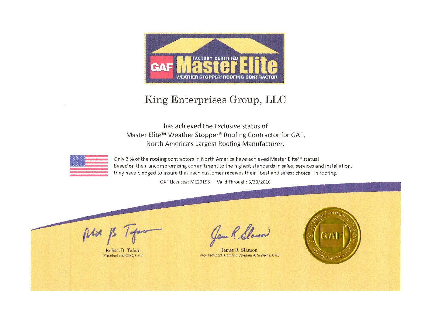 GAF_KING_MasterElite Expired 2016
